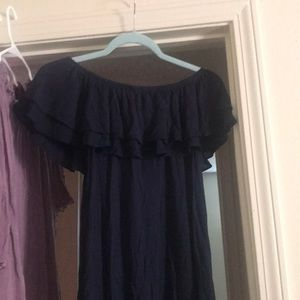 American Eagle Outfitters Tops - Navy blue off the shoulder top!